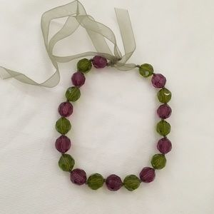 Jewelry - 5 for $20 Watermelon and Green Beaded Necklace